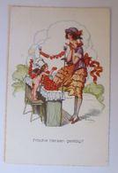 Künstlerkarte, Frauen, Amor, Frische Herzen Gefällig,  1920, Larson ♥  - 1900-1949
