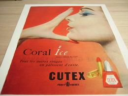 ANCIENNE PUBLICITE CORAL ICE  CUTEX 1932 - Perfume & Beauty