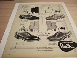 ANCIENNE PUBLICITE CHAUSSURE PRATIC LUXE 1957 - Vintage Clothes & Linen