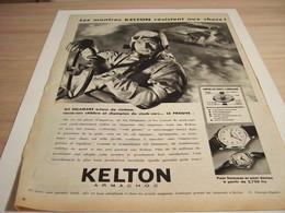 ANCIENNE PUBLICITE RESISTE AUX CHOCS MONTRE KELTON  1957 - Joyas & Relojería