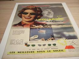 ANCIENNE   PUBLICITE LUNETTE DE SOLEIL POLAROID  SOL AMOR 1957 - Vintage Clothes & Linen