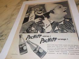 ANCIENNE PUBLICITE GOUTEZ DONC CE MELANGE LIMONADE PSCHITT 1957 - Affiches