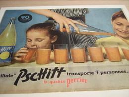 ANCIENNE PUBLICITE TRANSPORT 7 PRESONNES DE JOIE PSCHITT  1957 - Afiches