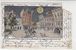 Gleiwitz - Grad Aus Dem Wirtshaus ... 1908 Litho / Ecke Fehlt - Schlesien