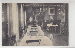 Gleiwitz - Hotel Schw. Adler - Inh. Hugo Müller - 1907 - Schlesien