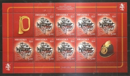 CROATIA 2014,FIREMAN,FIRE VEHCLE,FIRE TRUCK,FIREMAN HELMET,TRUMPET,SHEET,MNH - Croatie