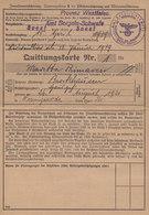 Invalidenversicherungskarte Mit Marken Aus Amt Borgeln-Schwefe In Soest / 1939 - Briefe U. Dokumente