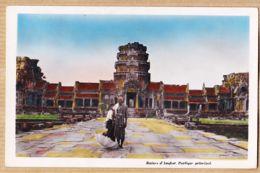 As212 Cambodge Ruines D' ANGKOR Portique Principal SAÏGON 26-04-1953 Photo NAM-PHAT 126 - Cambodia