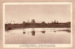 As097 Cambodge ARUINES ANGKOR VATH Vue Générale Grand Fossé Ouest Au Sud Chaussée Accès 1930s Photo NADAL BRAUN 2 - Cambodia