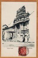 As260 COLOMBO Ceylon COLOMBO Hindoo Temple 1900s -PLÂTE N°91 CEYLAN SRI-LANKA - Sri Lanka (Ceylon)