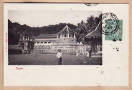 As149 Ceylon Temple Tampon COLOMBO 1903 Lieutenant De LANGLOIS Sainte Menehould -Sri-Lanka Ceyland A.W PLATE - Sri Lanka (Ceylon)
