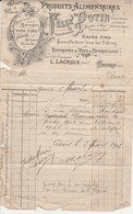 27 - GISORS - L.Lacroix Produits Alimentairres Félix Potin (facture 1906) - Gisors