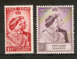 PITCAIRN ISLANDS 1949 SILVER WEDDING SET LIGHTLY MOUNTED MINT Cat £41+ - Stamps
