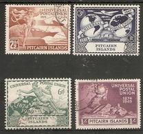 PITCAIRN ISLANDS 1949 UPU SET SG 13/16 FINE USED Cat £14 - Stamps