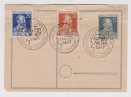 ALLEMAGNE 1947: Carte 'Foire De Hanovre' - Non Classificati
