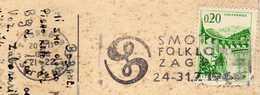 """Yugoslavia Croatia Zagreb 1966 Slogan/flamme ,,Smotra Folklora Zagreb"""" Motive - Folklore - 1945-1992 République Fédérative Populaire De Yougoslavie"""