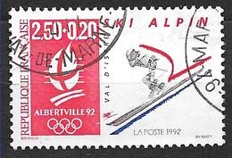 FRANCE  2710 Jeux Olympiques D'hiver Albertville 92 Ski Alpin. - Oblitérés