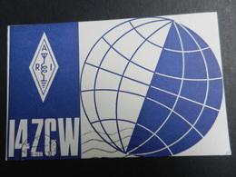 19917) RADIOAMATORE PARMA CARTONCINO CARTOLINA VIAGGIATA CON CODICI - Radio & TSF