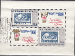 HUNGARY   SCOTT NO.  1681     USED SOUV. SHEET    YEAR  1965 - Hungary