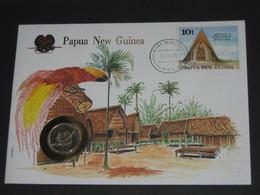 Papouasie-Nouvelle-Guinée  - KINA 1976  - Monnaie Sur Enveloppe   **** EN ACHAT IMMEDIAT **** - Papua-Neuguinea