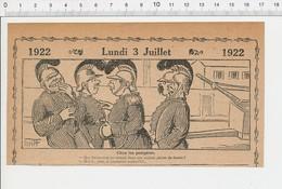 2 Scans Humour 1922 Pompiers Casque Ancien Pompier Caserne Pompe à Incendie Randonnée équestre Cravache Cheval 226A - Vieux Papiers