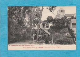 Fontvannes, 1926. - Sources De La Vanne Et L'Église. - Altri Comuni