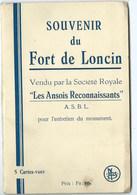 SOUVENIR DU FORT DE LONCIN ASBL Les Ansois Reconnaissants 5 Cartes Carnet Complet - Ans