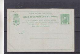 Congo Belge - Carte Postale De 1892 - Enteirs Postaux - - Entiers Postaux