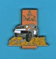1 PIN'S //   ** RALLYE RAID PARIS DAKAR ** . (Starpin's 94) - Rallye