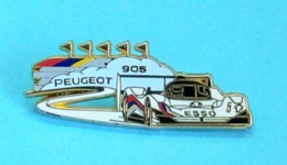 1 PIN'S //   ** PEUGEOT 905 EV1 / ESSO ** . (Arthus Bertrand Paris) - Peugeot