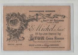 Carte De Visite Photographie Moderne Michel Croix Rousse Lyon - Visitenkarten