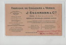 Carte De Visite Eschmann Fabrique Couleurs Vernis Marseille Chapel  Lyon - Visitenkarten