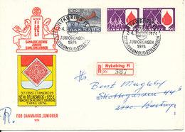 Denmark Registered Cover Nykobing F. Juniordagen 7-4-1974 - Denmark