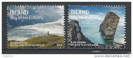 Islande 2014, Série Neuve  N°1344/1345 Tourisme - 1944-... Republik