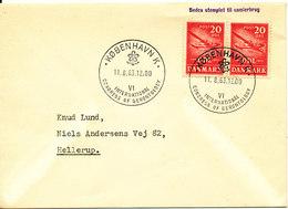 Denmark Cover With Special Cancel Copenhagen 11-8-1963 VI International Congress Of Gerontology - Denmark