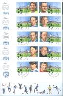 ISRAEL - 5 FDC'S  - 6.12.2011 - ISRAELI FOOTBALL LEGENDS - Yv 2159-2168 - Lot 19339 - FDC