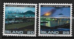 Islande 1975 N° 453/454  Neufs ** MNH Eruption Volcanique Heimaey - 1944-... Repubblica