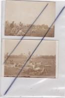 Militaria ; Lot De 2 Photos- 1916 - Autriche - Militaires Avec Mitrailleuse ,Sur Le Front ? Manoeuvre  ? - Krieg, Militär