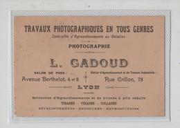 Carte De Visite Gadoud Travaux Photographiques Photographie Lyon - Visitenkarten