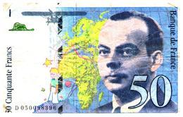 Billets > France >50  Francs 1999 - 1992-2000 Laatste Reeks
