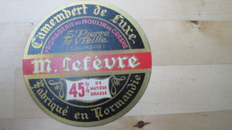 étiquette Ancienne, Neuve, Jamais Collée état Parfait - Fromage