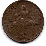 Dupuis -  10 Centimes 1898-  état  SUP  -  Avec Brillant D Origine - D. 10 Centesimi