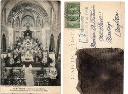SAINT ANTOINE-Intérieur De L'Eglise-Adoration Perpétuelle Le 17 Septembre 1911-Cachet Ambulant Aix A Marseille  (112580) - Frankreich