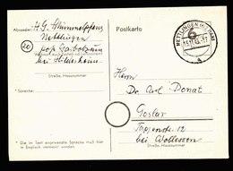 A6048) Bizone Notkarte Nettlingen 15.11.45 N. Goslar - Bizone
