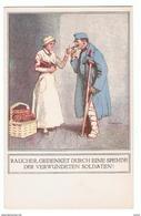 ZUGUNSTEN  DER  KRIEGSFURSORGE:  OFFIZIELLE  KARTE -  KLEINFORMAT - Rotes Kreuz