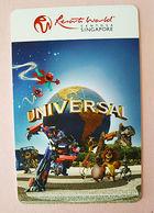 Resorts World Singapore Hotel Keycard Universal Studios - Hotelkarten