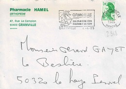 TP N° 2318 Seul Sur Enveloppe De Granville - 1961-....