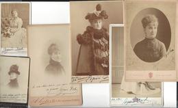 EUGENIE  DOCHE 1821 - 1900  , 6 Photographies ( 4 Cabinet - 2 Cdv ) Envoi Autographe - Antiche (ante 1900)