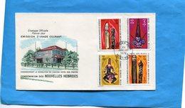 Nouvelle Hébrides- Enveloppe F DC Illustrée*cad 24 Jui 1972-4 Timbres  Art N°328-6+334-6 - FDC