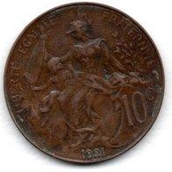 Dupuis -  10 Centimes 1921 -  état  TTB  - - Francia